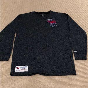 Grey Long Sleeve A&F Tee Boys (11-12)